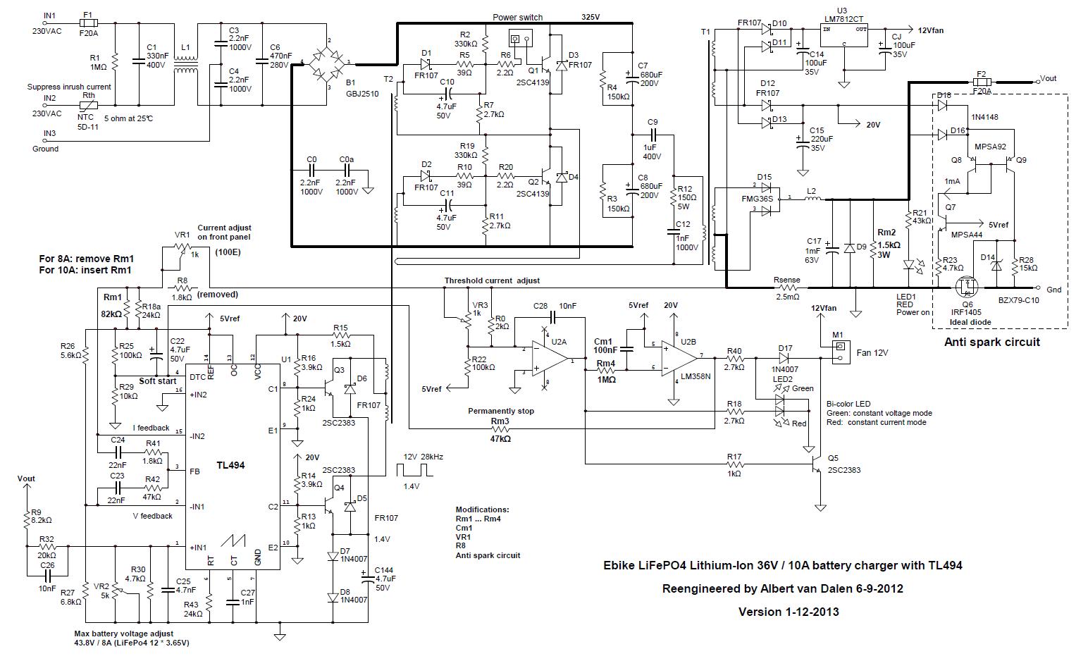 Схема зарядного устройства интерскол 12 в