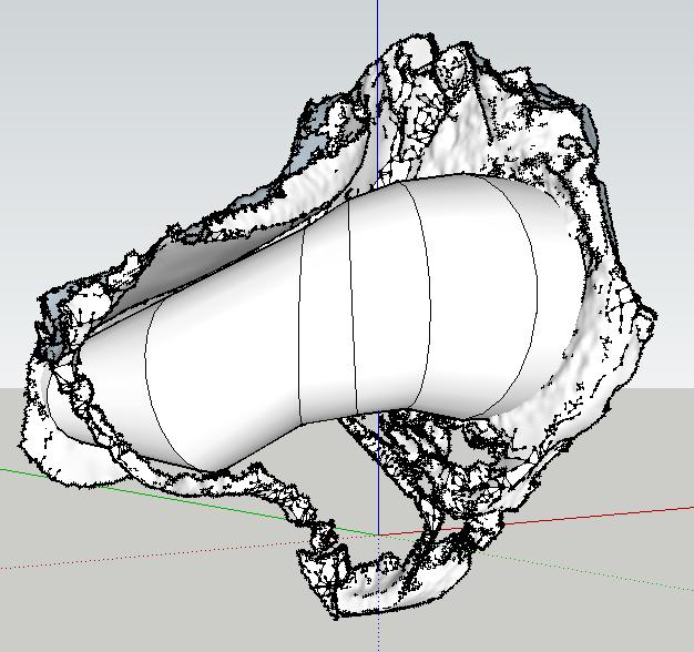 Prima versione del tubo, a sezione circolare