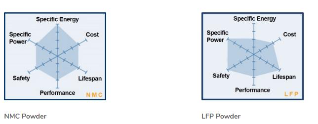 confronto NCM/LFP